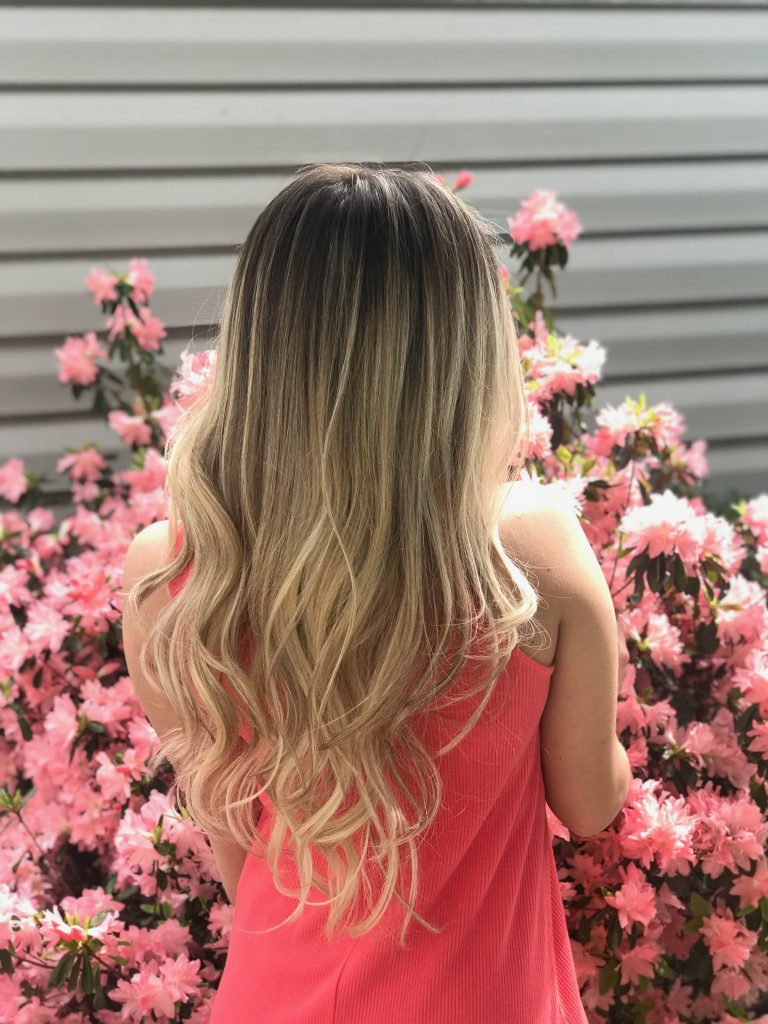 blonde bergenfield bergen county balayage highlights blend tenafly cresskill ashy blonde hair color color specialists professional affordable